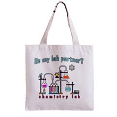 Chemistry Lab Zipper Grocery Tote Bag by Valentinaart