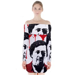 Pablo Escobar  Long Sleeve Off Shoulder Dress