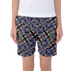Colorful Floral Collage Pattern Women s Basketball Shorts by dflcprintsclothing
