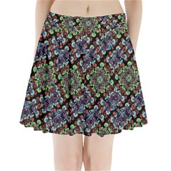 Colorful Floral Collage Pattern Pleated Mini Skirt by dflcprintsclothing