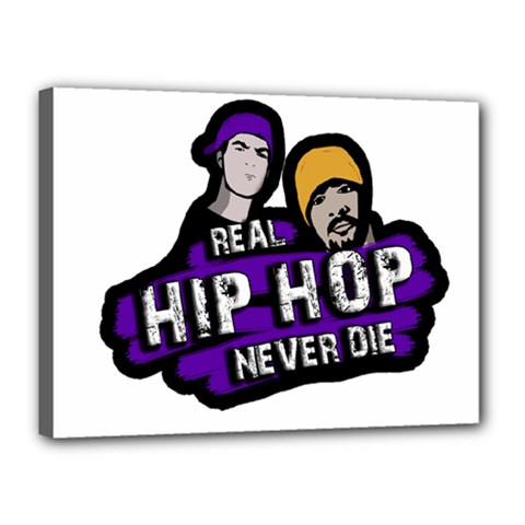 Real Hip Hop Never Die Canvas 16  X 12