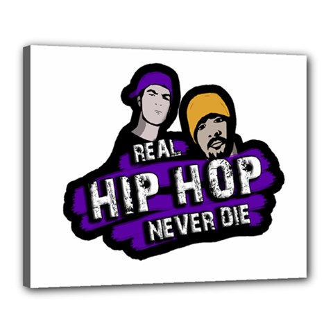 Real Hip Hop Never Die Canvas 20  X 16