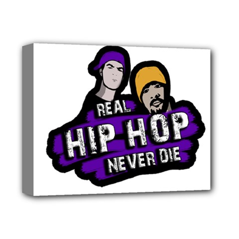 Real Hip Hop Never Die Deluxe Canvas 14  X 11  by Valentinaart