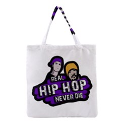 Real Hip Hop Never Die Grocery Tote Bag by Valentinaart
