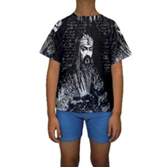 Attila The Hun Kids  Short Sleeve Swimwear by Valentinaart