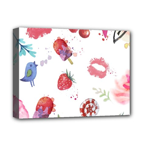 Hand Painted Summer Background  Deluxe Canvas 16  X 12   by TastefulDesigns