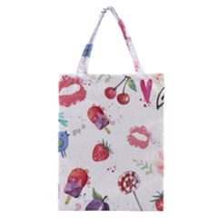 Hand Painted Summer Background  Classic Tote Bag by TastefulDesigns