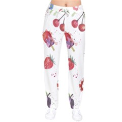 Hand Painted Summer Background  Drawstring Pants by TastefulDesigns