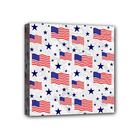 Flag Of The Usa Pattern Mini Canvas 4  X 4  by EDDArt