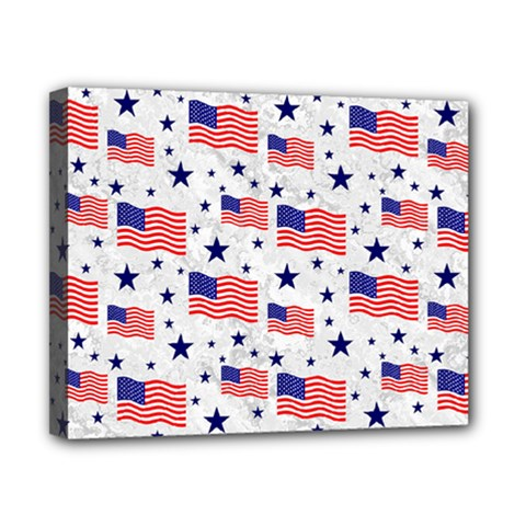 Flag Of The Usa Pattern Canvas 10  X 8  by EDDArt