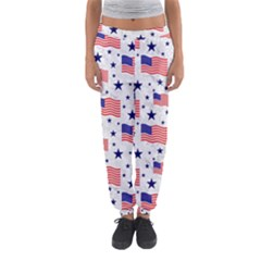 Flag Of The Usa Pattern Women s Jogger Sweatpants by EDDArt
