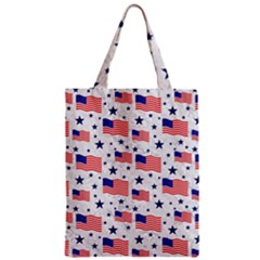 Flag Of The Usa Pattern Zipper Classic Tote Bag by EDDArt
