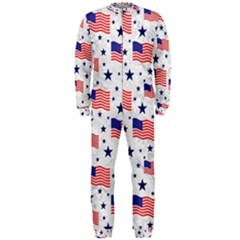 Flag Of The Usa Pattern Onepiece Jumpsuit (men)  by EDDArt