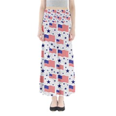 Flag Of The Usa Pattern Maxi Skirts by EDDArt