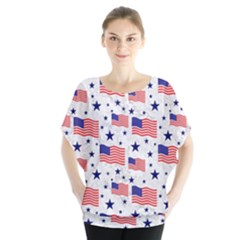 Flag Of The Usa Pattern Blouse by EDDArt