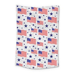 Flag Of The Usa Pattern Small Tapestry by EDDArt
