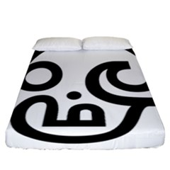 Hindu Om Symbol In Tamil  Fitted Sheet (california King Size) by abbeyz71