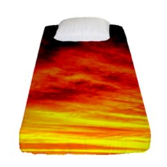 Black Yellow Red Sunset Fitted Sheet (single Size) by Costasonlineshop