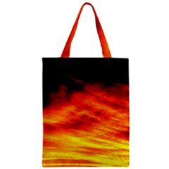 Black Yellow Red Sunset Zipper Classic Tote Bag by Costasonlineshop