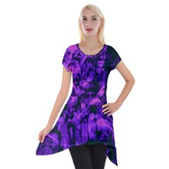 Pattern Short Sleeve Side Drop Tunic by Valentinaart