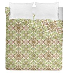Colorful Stylized Floral Boho Duvet Cover Double Side (queen Size) by dflcprints