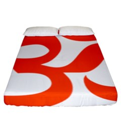 Hindu Om Symbol (orange) Fitted Sheet (king Size) by abbeyz71