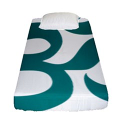 Hindu Om Symbol (teal)  Fitted Sheet (single Size) by abbeyz71