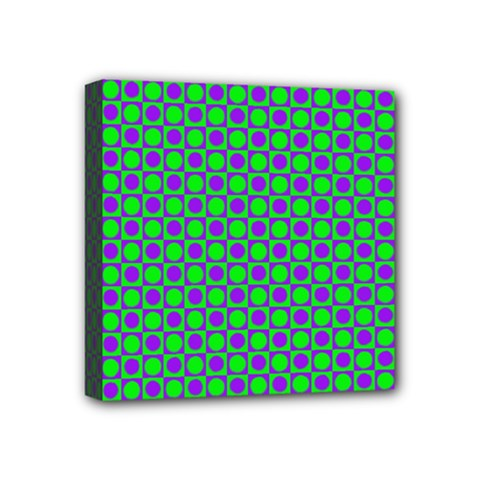 Friendly Retro Pattern A Mini Canvas 4  X 4  by MoreColorsinLife