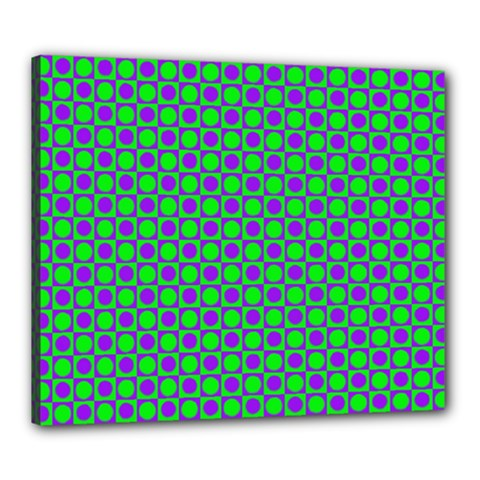 Friendly Retro Pattern A Canvas 24  X 20  by MoreColorsinLife
