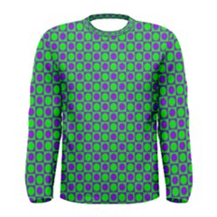 Friendly Retro Pattern A Men s Long Sleeve Tee by MoreColorsinLife