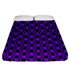 Friendly Retro Pattern B Fitted Sheet (king Size) by MoreColorsinLife