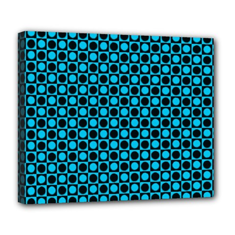Friendly Retro Pattern E Deluxe Canvas 24  X 20   by MoreColorsinLife