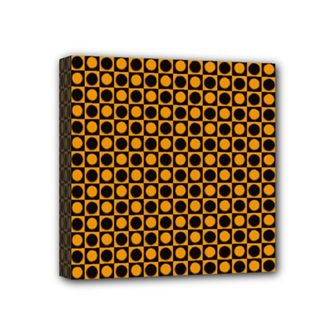 Friendly Retro Pattern F Mini Canvas 4  X 4  by MoreColorsinLife