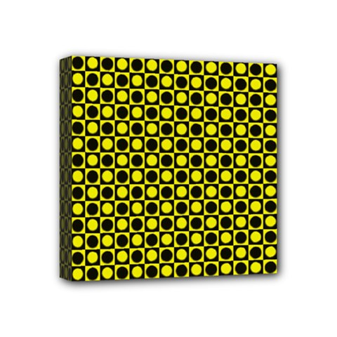 Friendly Retro Pattern I Mini Canvas 4  X 4  by MoreColorsinLife