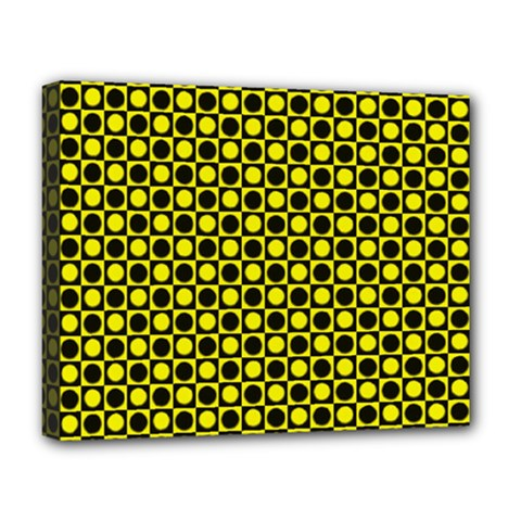 Friendly Retro Pattern I Deluxe Canvas 20  X 16   by MoreColorsinLife