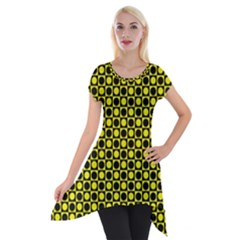 Friendly Retro Pattern I Short Sleeve Side Drop Tunic