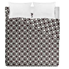 Friendly Retro Pattern H Duvet Cover Double Side (queen Size)