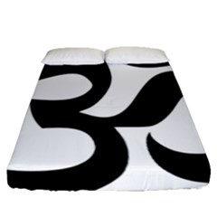 Hindu Om Symbol  Fitted Sheet (queen Size) by abbeyz71
