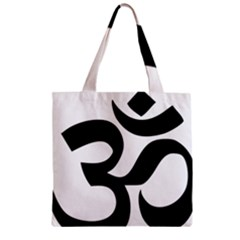 Hindu Om Symbol  Zipper Grocery Tote Bag by abbeyz71