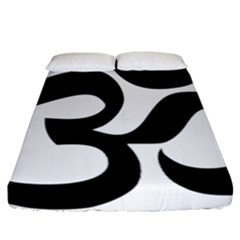 Hindu Om Symbol  Fitted Sheet (california King Size) by abbeyz71