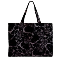 Skulls Pattern Zipper Mini Tote Bag by ValentinaDesign