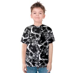 Skulls Pattern Kids  Cotton Tee by ValentinaDesign