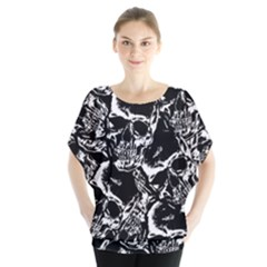 Skulls Pattern Blouse by ValentinaDesign
