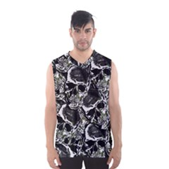 Skulls Pattern Men s Basketball Tank Top by ValentinaDesign