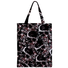 Skulls Pattern Zipper Classic Tote Bag by ValentinaDesign