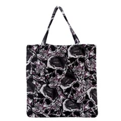Skulls Pattern Grocery Tote Bag by ValentinaDesign