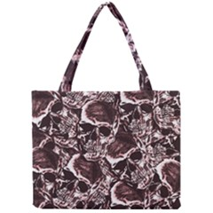 Skull Pattern Mini Tote Bag by ValentinaDesign