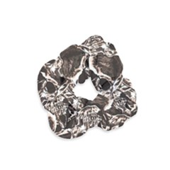 Skull Pattern Velvet Scrunchie by ValentinaDesign