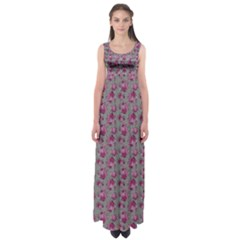 Floral Pattern Empire Waist Maxi Dress by ValentinaDesign