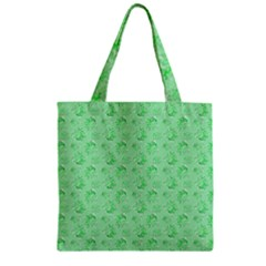 Floral Pattern Zipper Grocery Tote Bag by ValentinaDesign